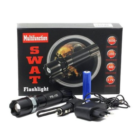 Lanterna Led metalica cu acumulator Swat