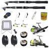 Set complet de pescuit sportiv cu lanseta Wind Blade de 2.7 m, mulinete Cobra, 2 senzori, guta, cantar electronic accesorii