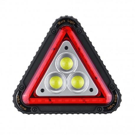 Proiector led 30W , 1500LM portabil cu incarcare USB, baterii acumulator si triunghi reflectorizant