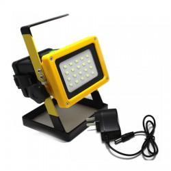 Proiector portabil LED 30W, 2400Lm, 3 acumulatori cu incarcare la 220v ideal pentru pescuit