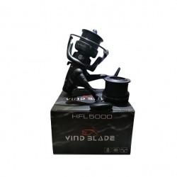 Mulineta carp/feeder cu tambur long cast Wind Blade HFL5000 8 rulmenti si baitrunner